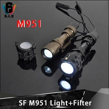 Táctica Softair Surefir M951 linterna Super brillante Wapens Airsoft Lampe M951 cubierta de luz filtro