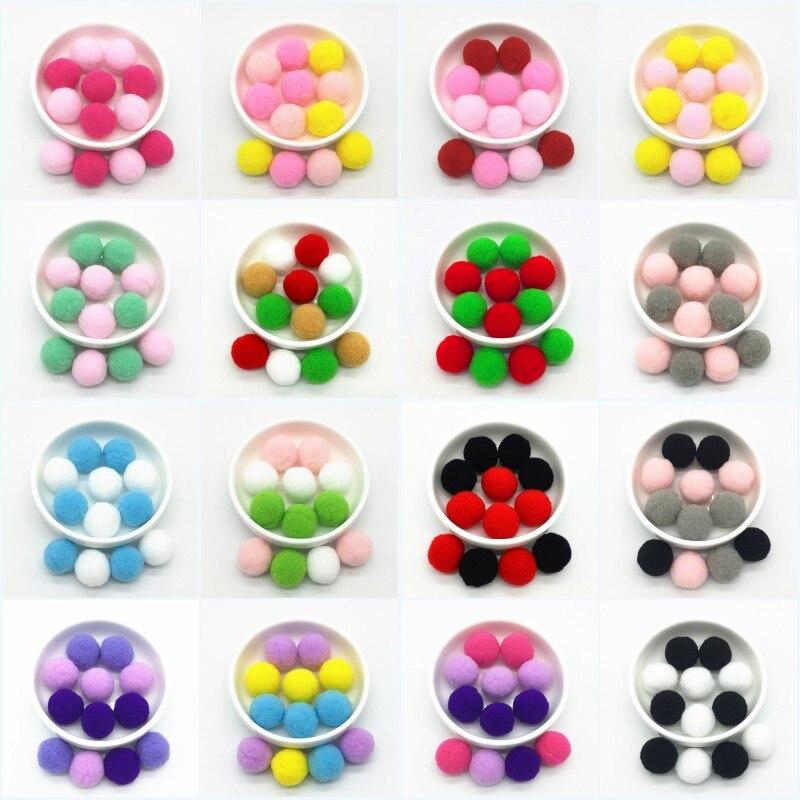 36pcs 25mm Multicolor Pompom Plush Balls Real Fur Ball Pom Poms Soft Pompons Balls for DIY Home Wedd