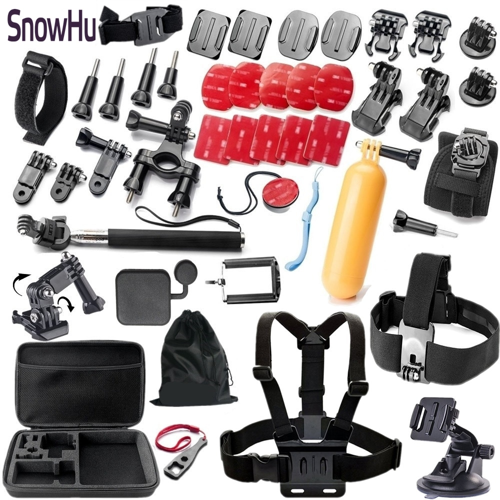 SnowHu for Gopro accesorios set  for Go Pro Hero 8 7 6 5 4  3 2 1XiaomiYI 4K H9 SJ4000 SJ5000 action camera GS09