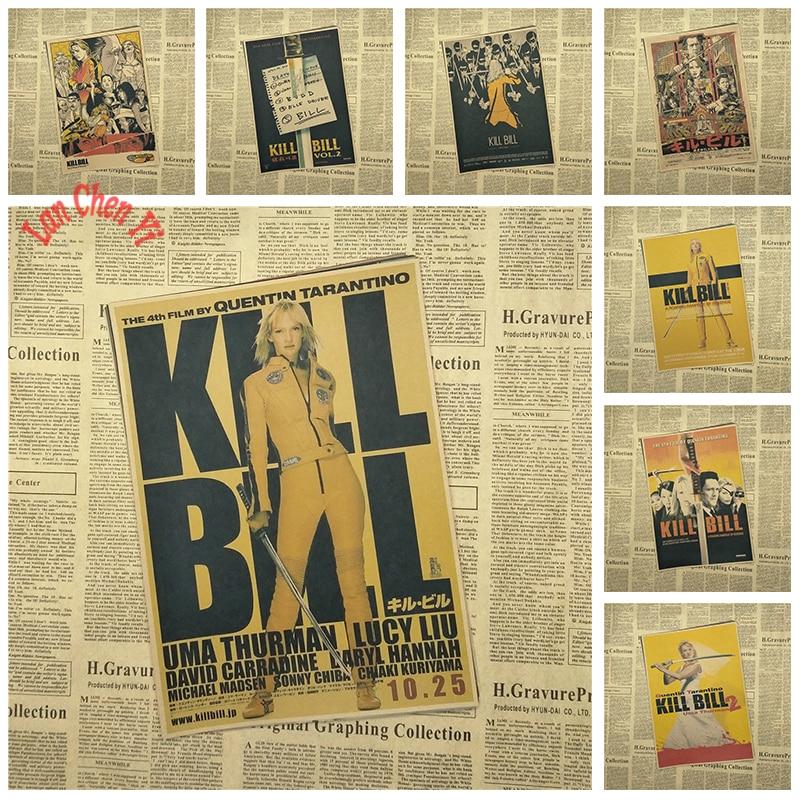 Kill Bill Vol классический ретро фильм крафт-бумага постер Бар Кафе гостиная столовая Quentin Tarantino постер видео