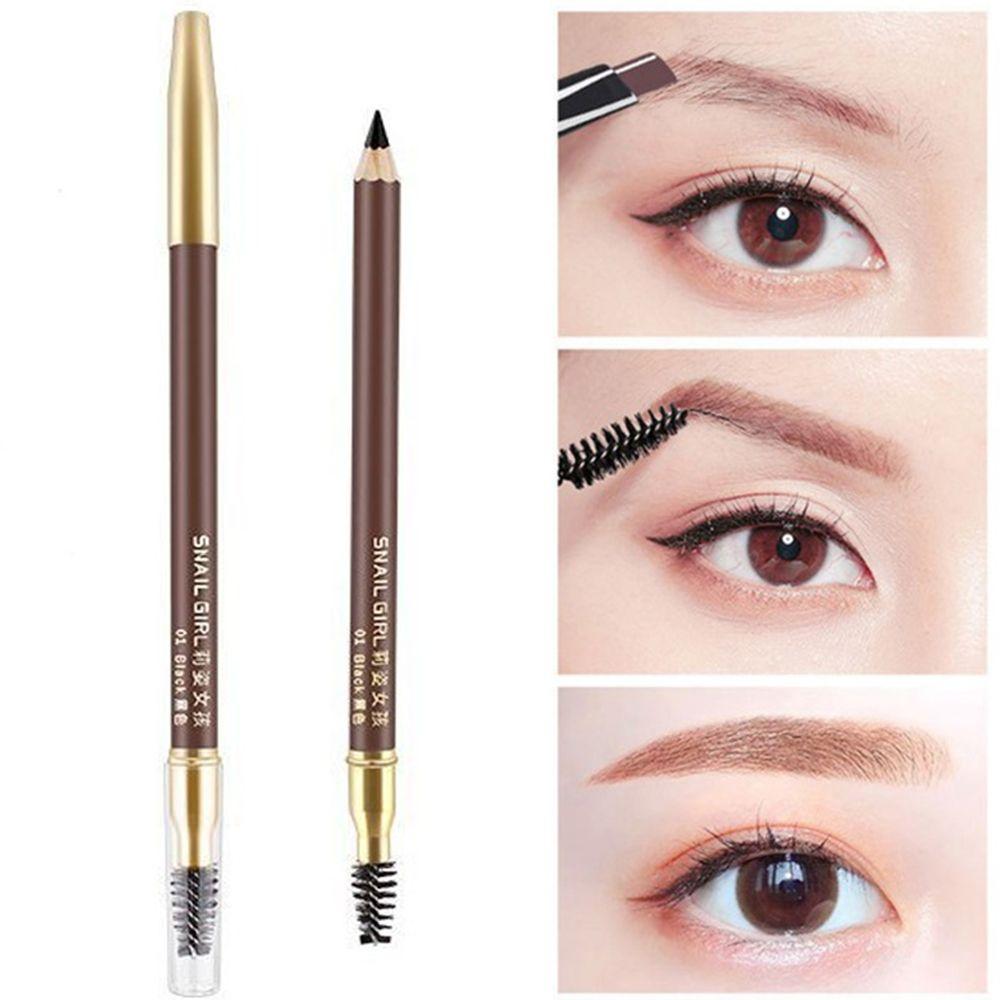 2 em 1 cor Dobro-cabeça Lápis de Sobrancelha Natural Anti-mancha Fácil para a cor da Madeira À Prova D Água lápis de Sobrancelha mulheres beleza