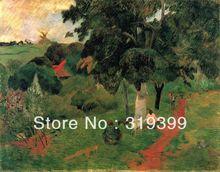 100% handgemaakte Paul Gauguin Olieverf Reproductie op Linnen doek, Allees et locaties, Martinique, Gratis Snelle Schip, Museum Kwaliteit