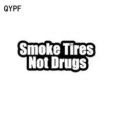 QYPF 14.8 سنتيمتر * 6 سنتيمتر شخصية الفينيل مقاوم للماء الدخان الإطارات لا المخدرات سيارة ملصق مائي أسود فضي C15-3023