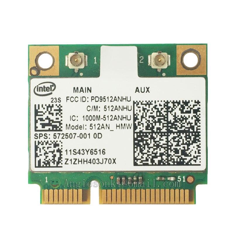 Link 5100 512ANHMW Half-Mini WLAN WIFI CARD 43Y6517 572507-001 for Lenovo IBM Intel 300Mbps T400S SL410 SL510 Dv6 Dv7 Dv8