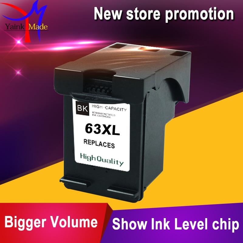 Cartucho de tinta negro refabricado para HP 63 compatible con HP 63XL BK para impresora HP Deskjet 1110 1111 1112 2130 2132 2134