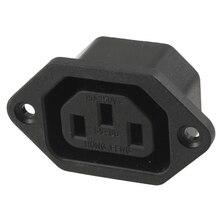 AC 250 V 10A IEC 320 C13 connecteur de prise de montage de panneau noir