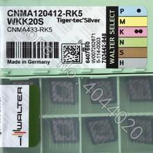 CNMA120412-RK5 WKK20S CNMA433-RK5 WKK20S 10pcs 월터 카바이드 삽입