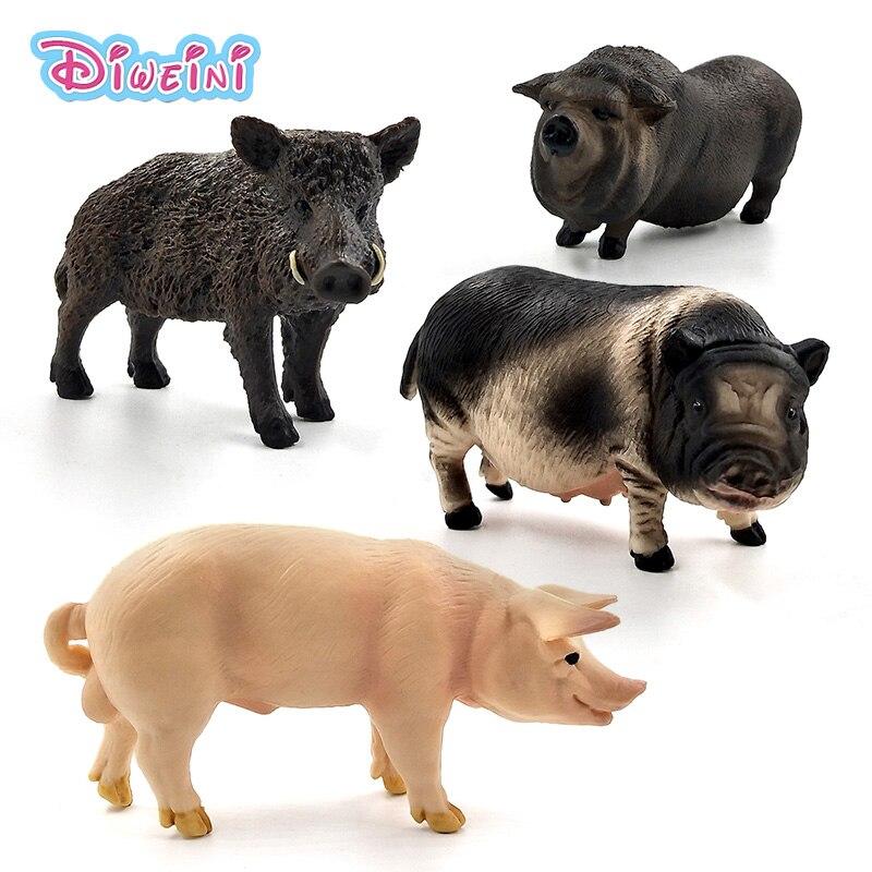 Игрушечная ферма, Имитация животных, дикая кабана, свинья, фигурки, пластиковое ремесло, украшения, образовательный лучший рождественский подарок для детей