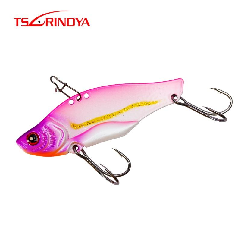 TSURINOYA señuelo de pesca duende TEPAN se hunde de Metal VIB duro señuelo vibración de cuchara Spinner Wobbler Swimbait 7g 11g 14g 17g