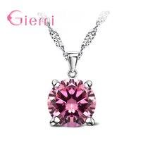 Nouvelle marque Design femmes classique colliers et pendentifs mode 925 bijoux en argent Sterling pour mariage brillant Zircon cadeau