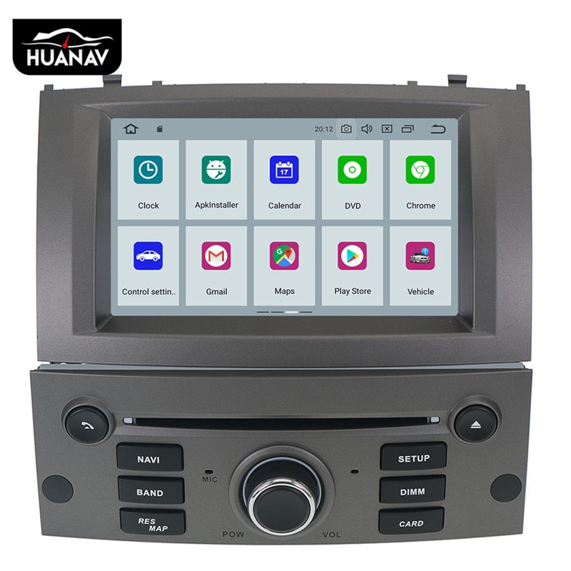 Android 9,0 reproductor de DVD del coche Multimedia estéreo para Peugeot 407, 2004, 2005, 2006, 2007, 2008, 2009, 2010 Auto radio estéreo navegación GPS
