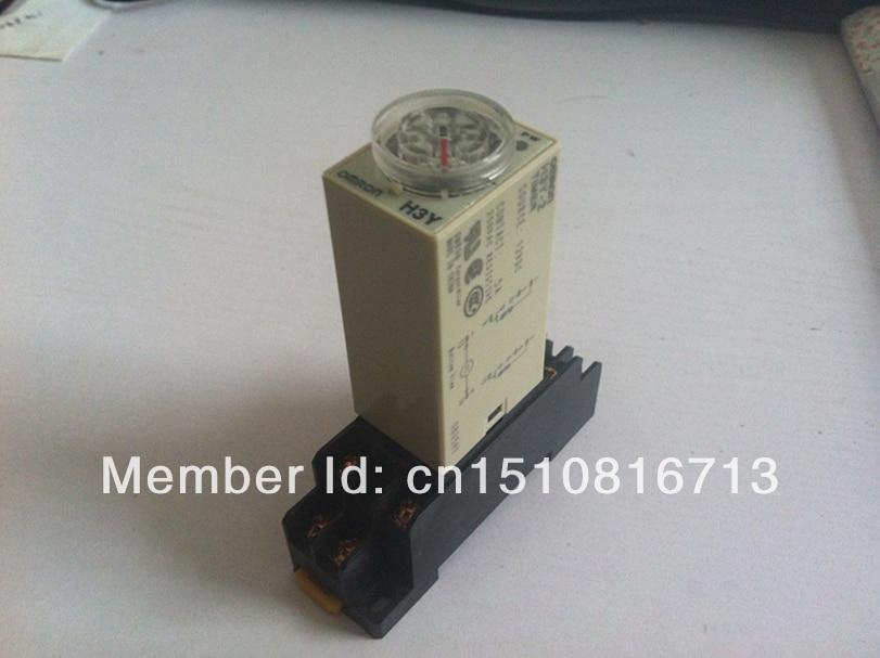24 V DC H3Y-2 H3Y temporizador de retardo relé de tiempo 0-60 segundos 60 s 60seg 24VDC y Base