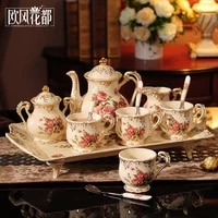 european style ceramic coffee set coffee set afternoon tea set top grade wedding gift practical wedding gift