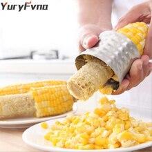 Décapant dépi de décapant de maïs de YuryFvna coupeur de trancheuse de grattoir déplucheur de Gadget de maïs de cuisine dacier inoxydable avec la poignée antidérapante