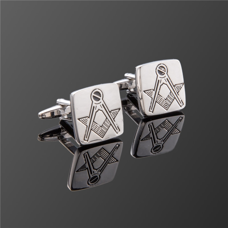 Hot Fashion men cuff links freemasonry cufflinks masonic cuff buttons sleeve designer for masonry square and  with G