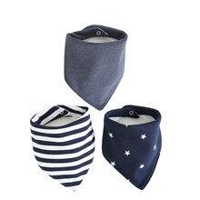 Нагрудники из хлопка для новорожденных, 3-слойная водонепроницаемая повязка на голову для детей 0-24 месяцев, 3 шт./компл., аксессуары для кормления детей