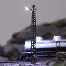 LQS59N 3pcs Model Railway lights Lattice Mast lamp Track light N Scale Layout