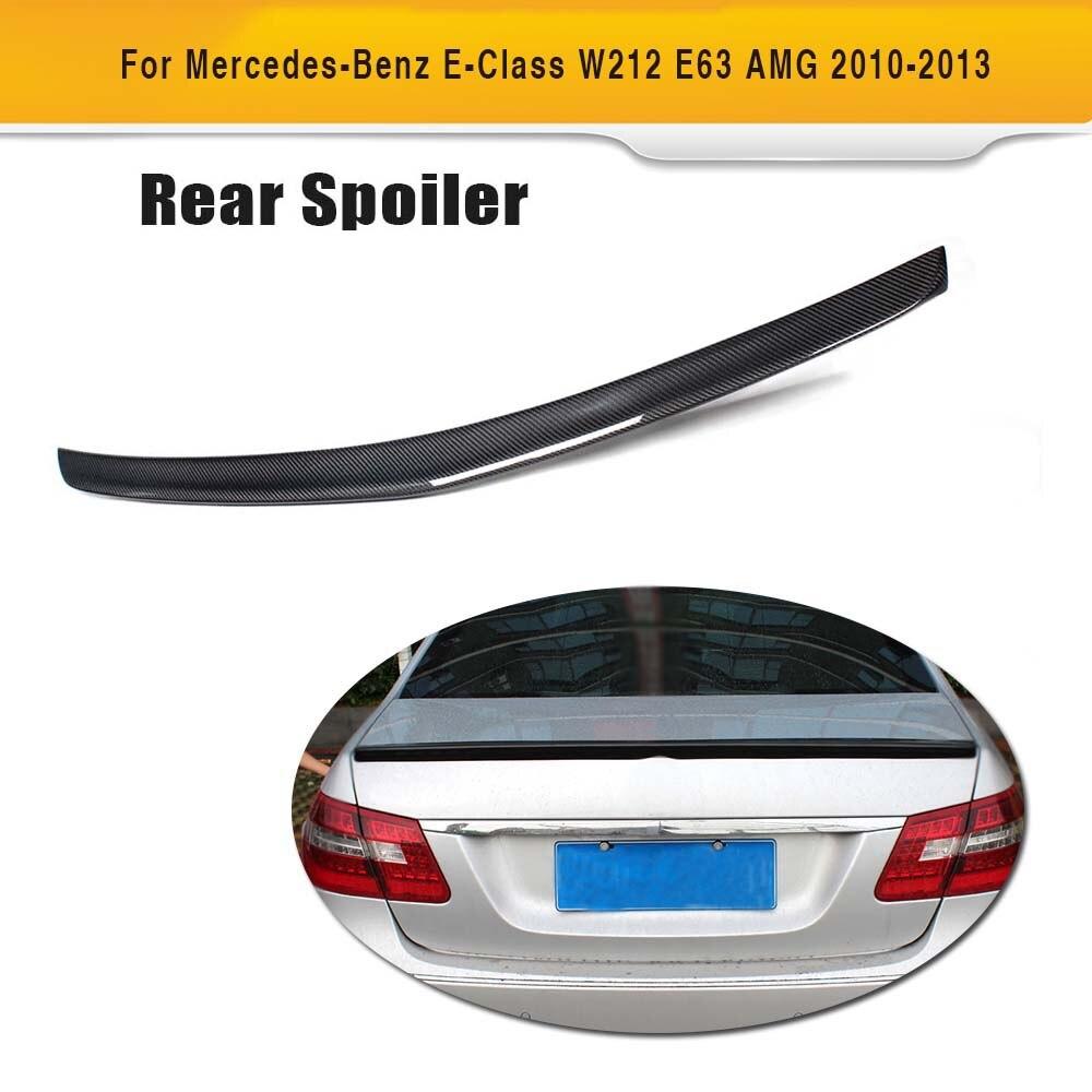 Carbon Fiber Car Rear Trunk Wing Spoiler for Mercedes Benz E Class W212 E300 E500 E63 AMG Sedan 4 Door 2010-2015 Car Spoiler