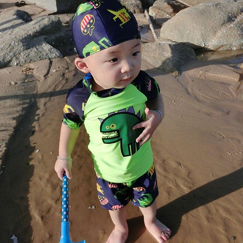 Garoto Maiô Crianças Swimwear para Meninos Conjunto Maiô Terno de Natação Do Bebê Dos Desenhos Animados Dinossauros Velocidade Seco Hot Sale Roupa de Banho