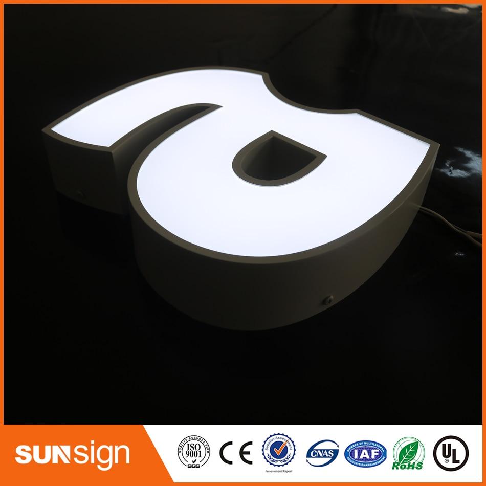 Outdoor led letter frontlit channel sign недорого