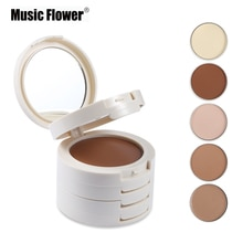 Musik Blume Marke 5 in 1 Concealer Contouring Make-Up Palette Foundation Base Gesicht Corrector Bronzer Contour Kompakte Pulver