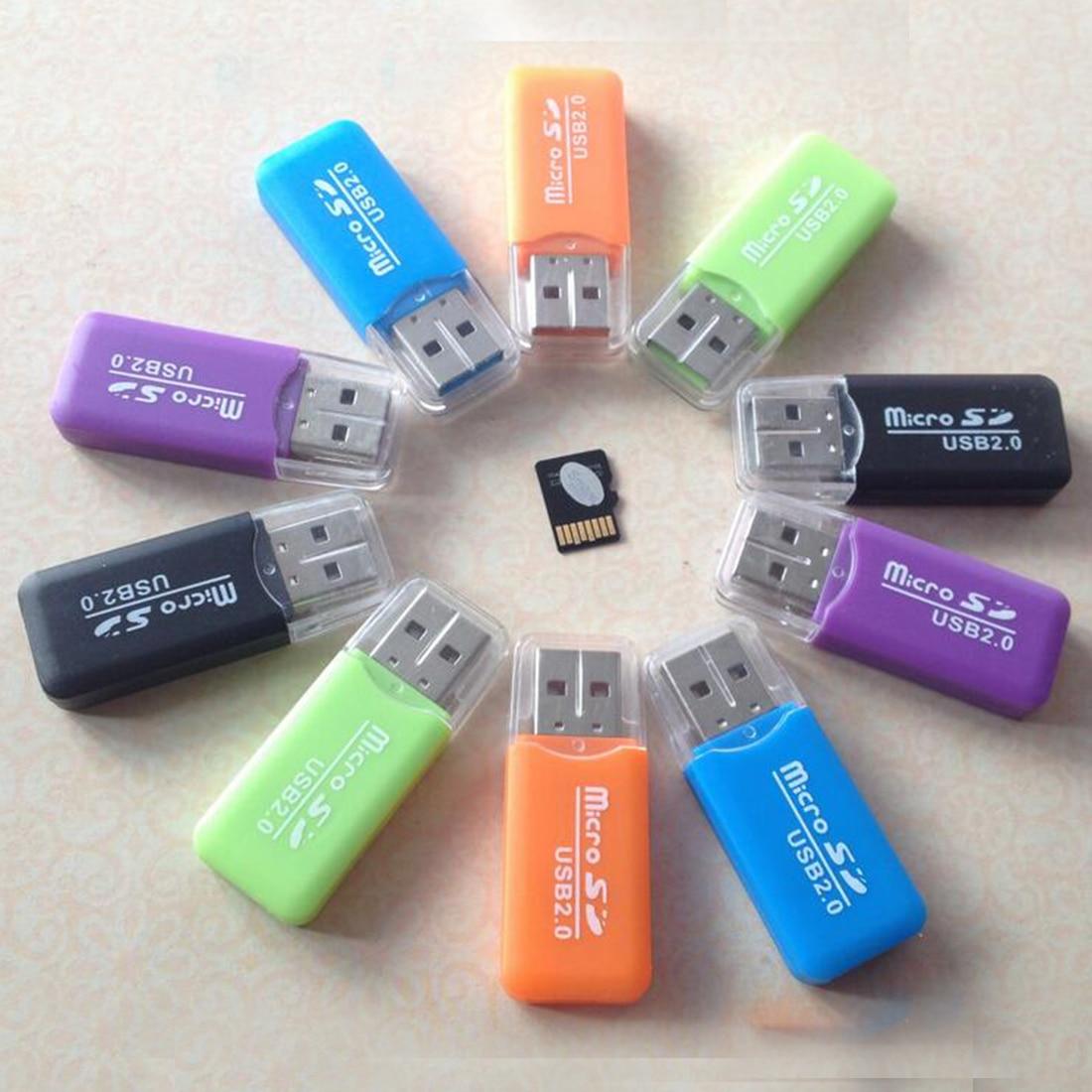 Etmakit alta quunity soporte USB 2,0 lector de tarjetas de memoria de alta velocidad Micro SD TF adaptador de Color al azar