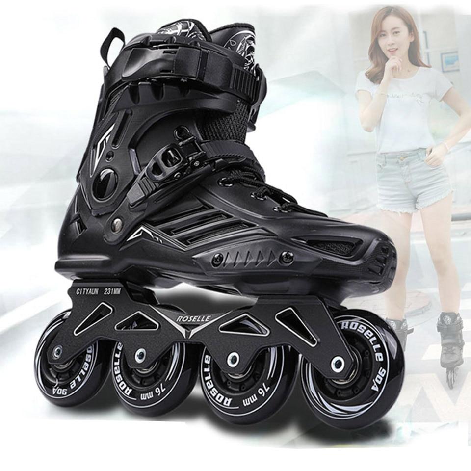Роликовые коньки RS6, Профессиональные роликовые коньки, обувь для взрослых, обувь для роликовых коньков, скользящие кроссовки для роликовых...