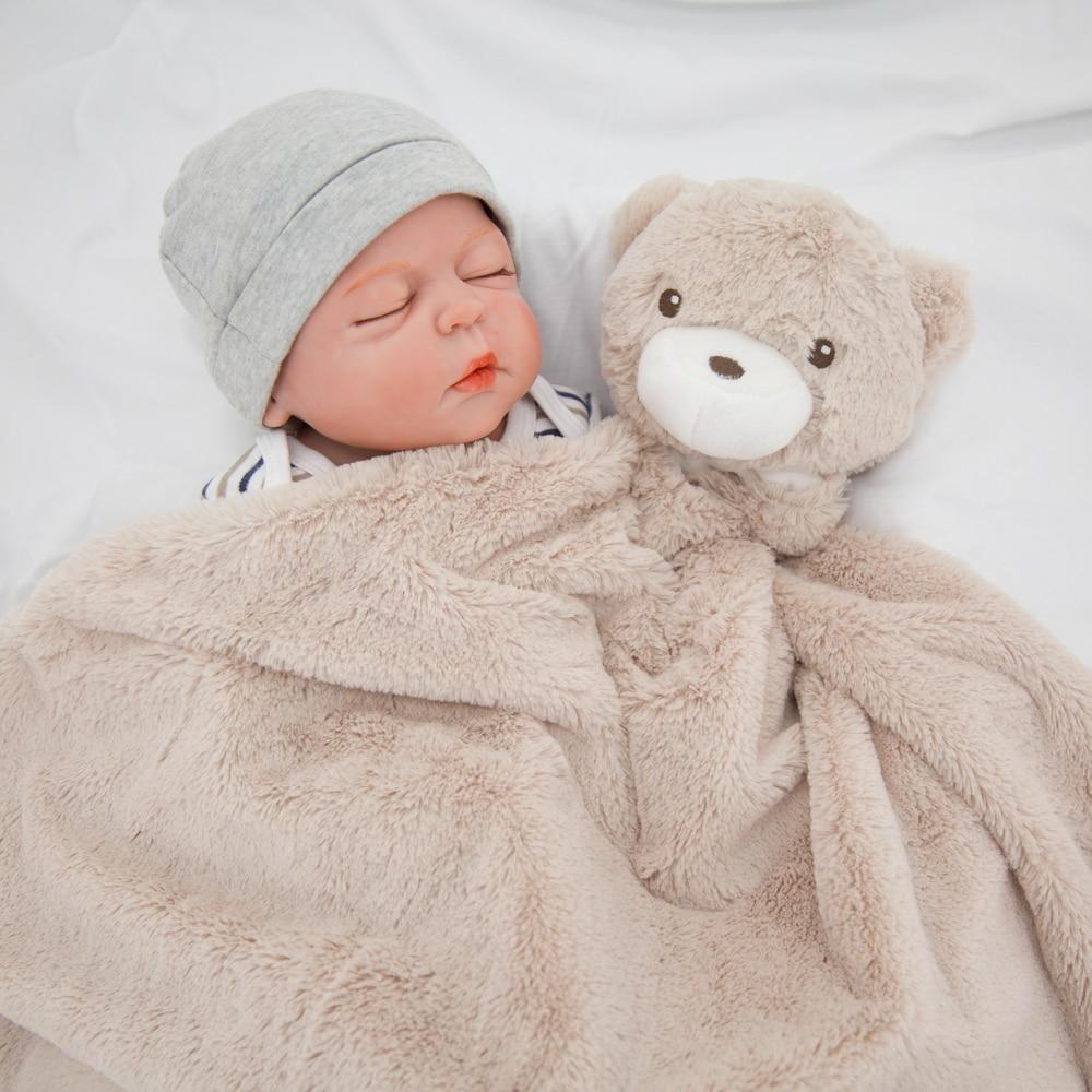 Manta de bebé Kavkas, 76x76cm, Coral, Polar, invierno, oso marrón, manta infantil para recién nacido, Flokati