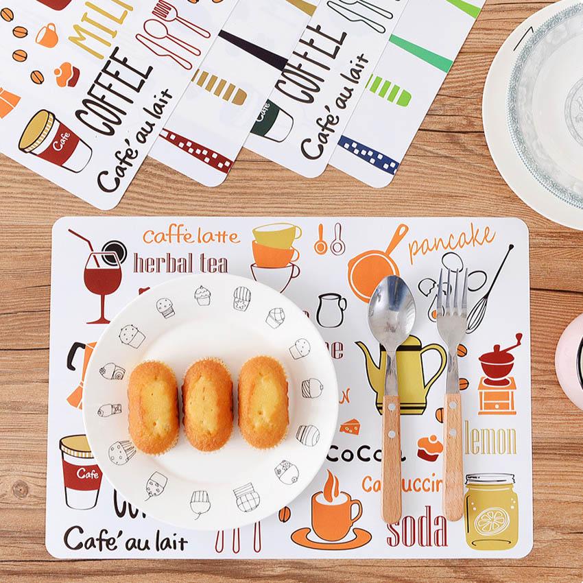 2/4 Uds manteles estera de mesa de PVC niños vajilla de dibujos...