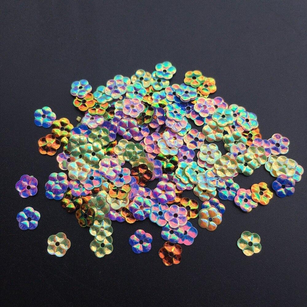 2500 pcs 6mm Flor Solto Lantejoula Paillette de Costura, Artesanato Casamento, mulheres Sapatas Dos Miúdos Roupas Chapéu Acessório Do Vestuário DIY Mix de Ouro