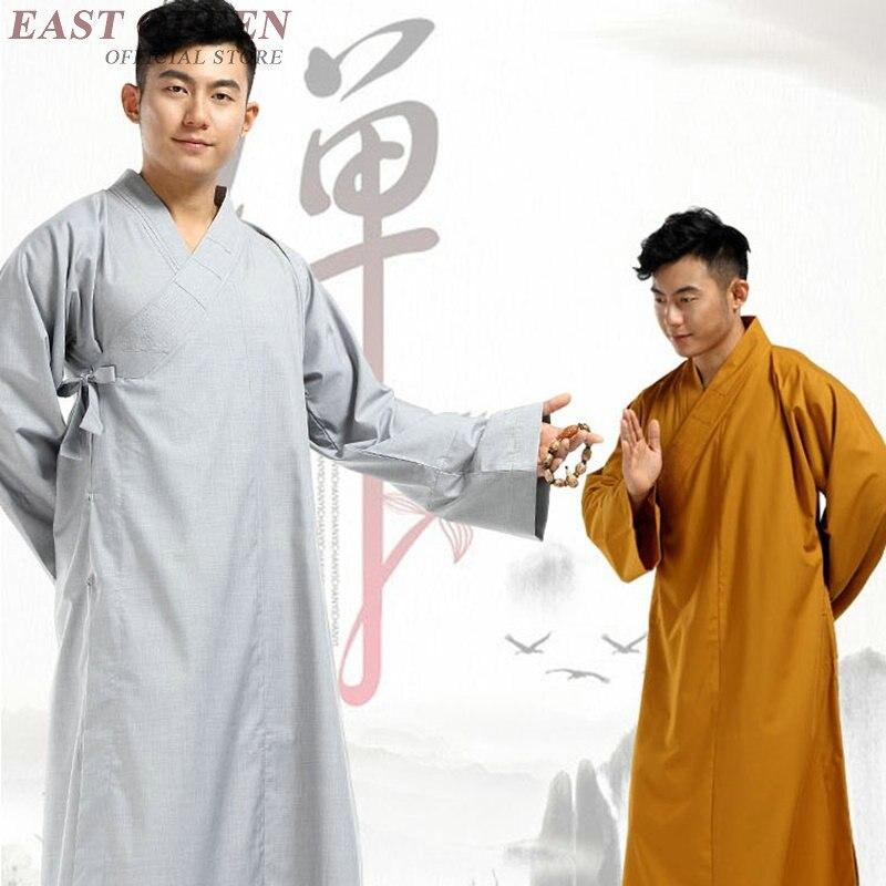 Trajes de monje budista ropa disfraz Ropa de monje Shaolin budista ropa de monje uniforme ropa de meditación KK2082 Y