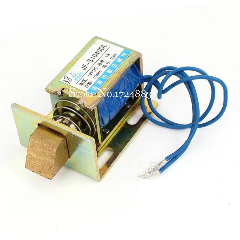 JF-S1040DL electroimán solenoide DC12V cerradura imán eléctrico 24V 1A fuerza 25N golpe 10mm