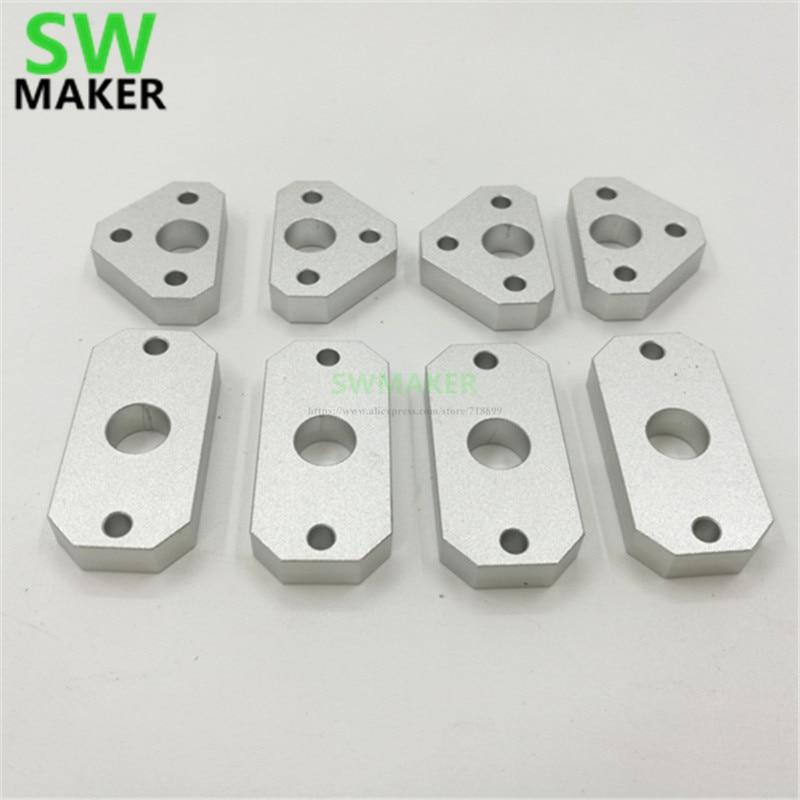 SWMAKER Makebot Replicator Flashfoge/CTC actualización CNC aluminio X/Y eje 8mm varillas guía anillo extendido kit de anillo de guía
