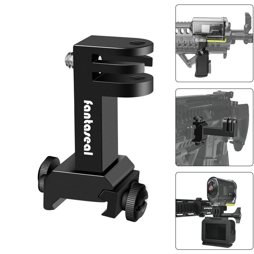 Экшн-камера, боковое Крепление Пикатинни, адаптер для Gopro Hero SONY FDX HDR, Охотничья винтовка, пистолет, карабин, страйкбол