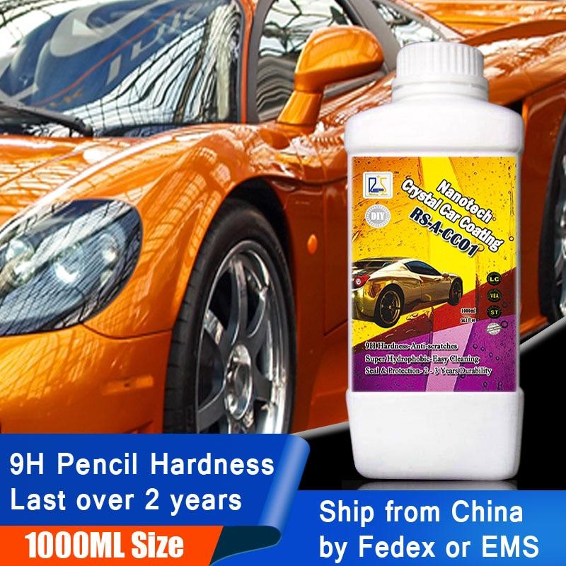 1L 9H Liquid Glass Ceramic Car Coating Super Hydrophobic Glass Coating Nano Ceramics Car Care Wax Car Polishing Kit Anti Scratch