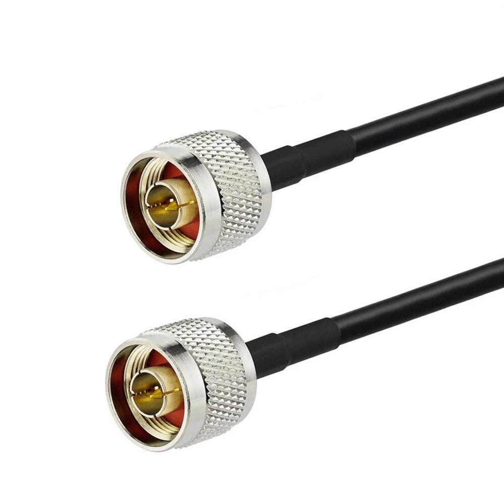 Adaptador de montaje de Cable Coaxial de radiofrecuencia personalizado de 88twood N enchufe macho a N enchufe macho Cable de antena inalámbrica LMR195/KSR195 1000cm