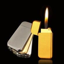 Meule compacte Ultra mince   Butane briquet gaz gonflé, Mini briquet givré métal sans gaz, accessoires de cigarettes