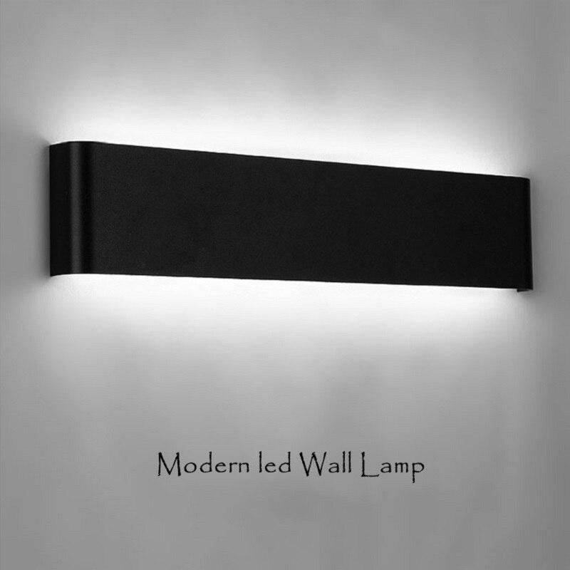 Lámparas de pared LED modernas con acabado en negro para sala de estar, comedor, baño, dormitorio, modernas luces LED de pared para el hogar AC 220V 110V