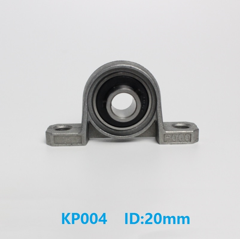 50 pçs/lote KP004 20mm P004 Diâmetro do Furo de Liga de Zinco Montado Habitação Suporte de Rolamento do Bloco de Descanso Rolamento da Inserção
