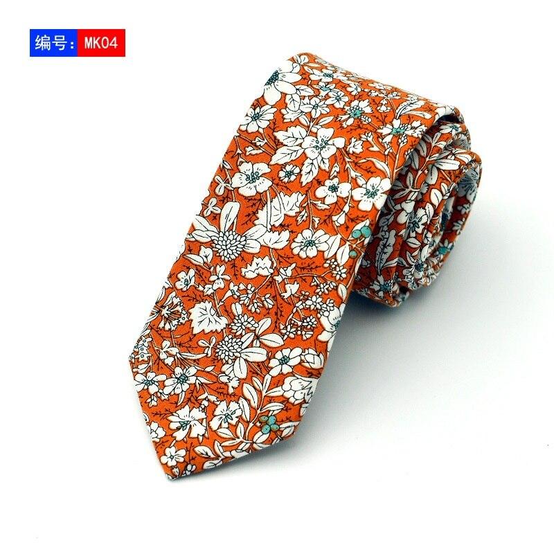 6cm Cotton Ties Floral Ties Mens Fashion Necktie Casual Suit Wedding Skinny Neck Tie Party Slim Tie Gravatas недорого