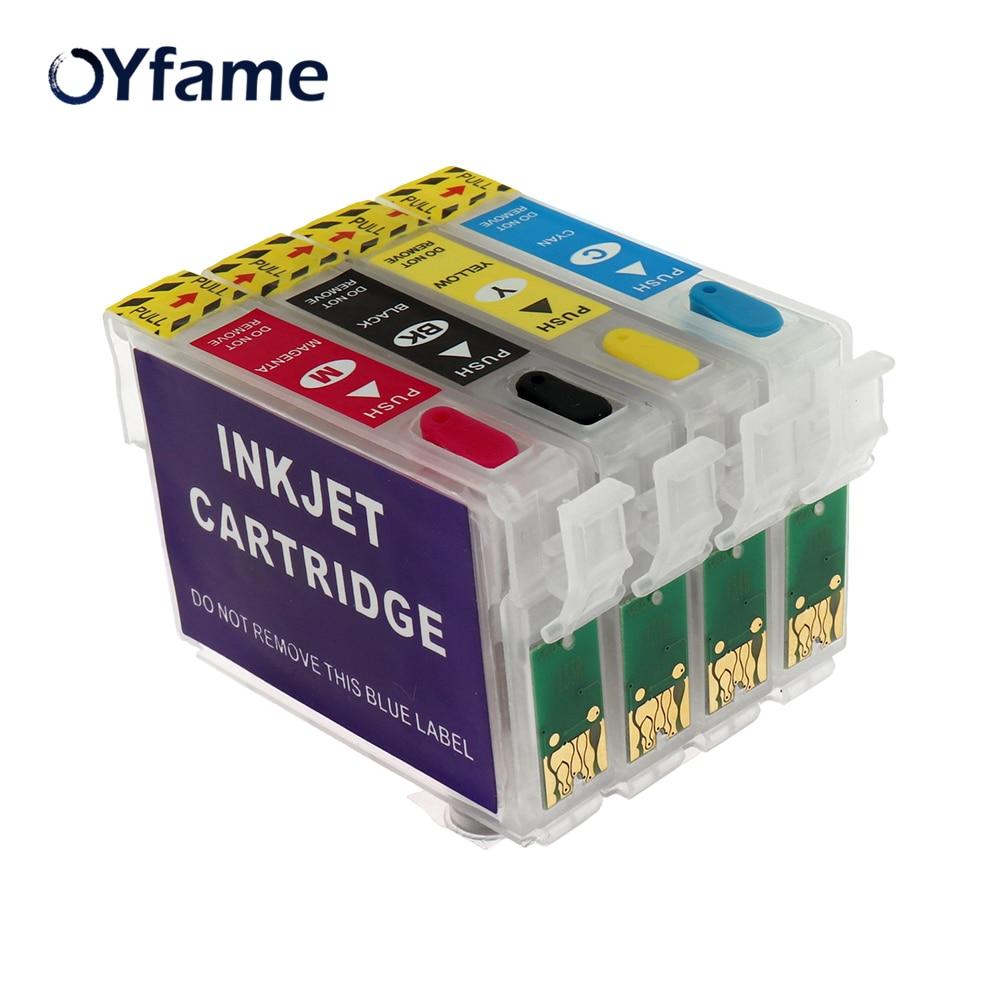 OYfame 71 T0711 многоразовый чернильный картридж для epson Stylus DX7400 DX7450 DX8400 DX8450 DX9400F S20 S21 SX100 SX110 SX105 принтер