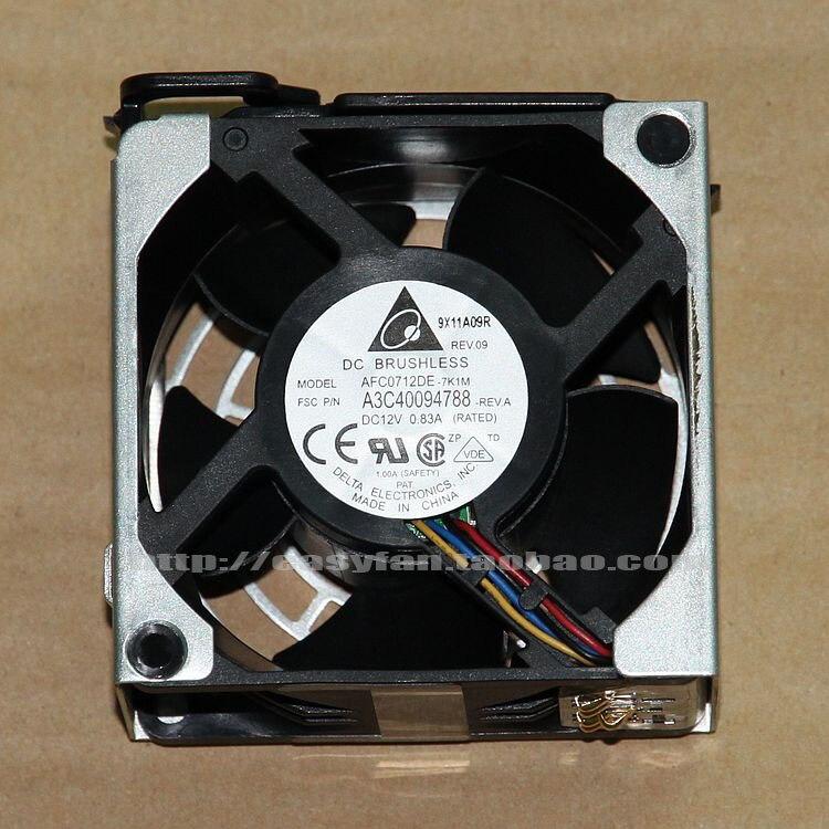 Detla electrónica AFC0712DE 7K1M DC 12V 0.83A 70x70x38mm ventilador de refrigeración de servidor