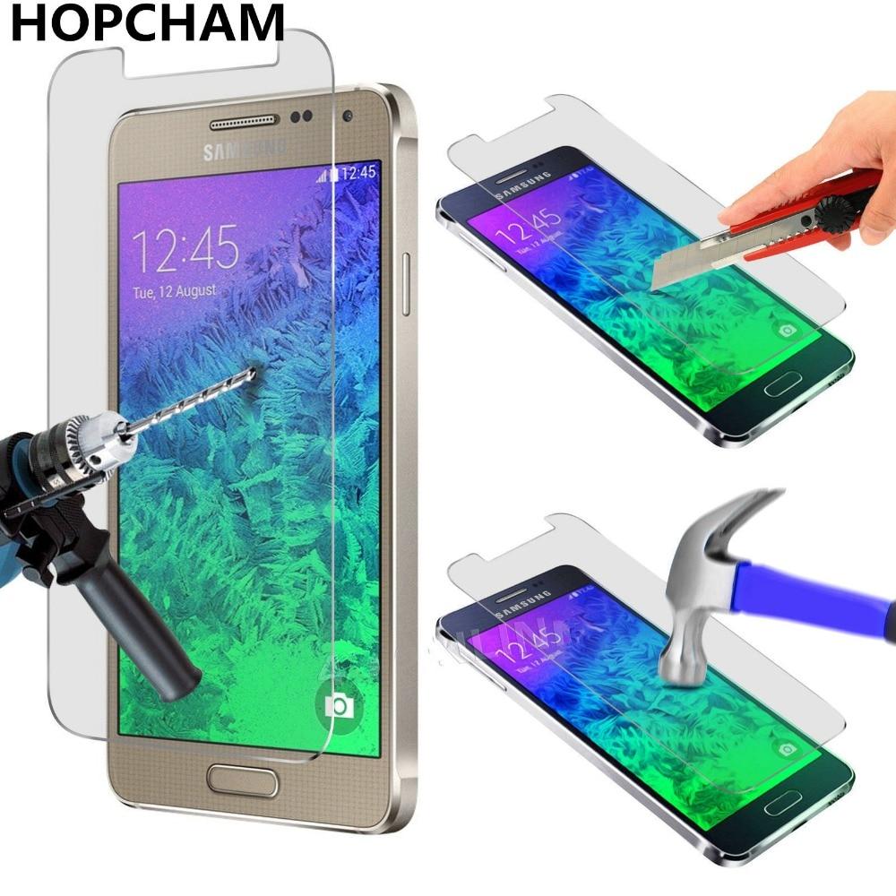 Protector de pantalla de 0,26mm a prueba de explosiones para teléfono, película de cristal templado 2.5D para Samsung GALAXY Alpha G850 G850F G8508 G8508S G8509