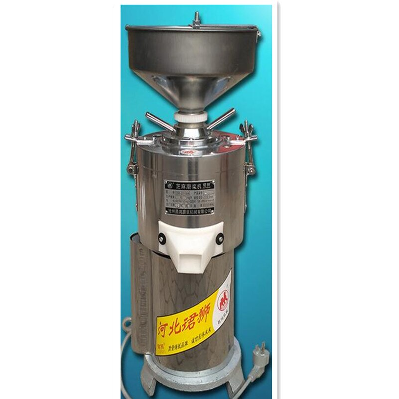 220V comercial 15 KG/H de acero inoxidable de la máquina de pulir para mantequilla de cacahuete, sésamo pasta de maní máquina de la amoladora de pasta