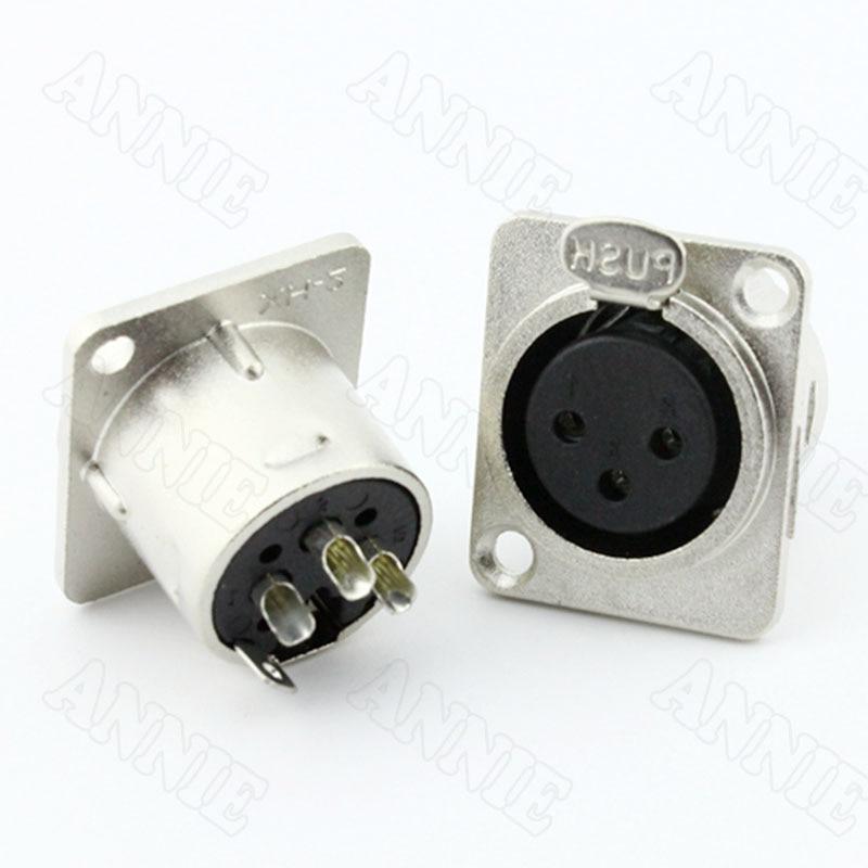 30 قطعة/الوحدة الصوت لوحة التوصيل وحدة ميكروفون جاك 3 دبوس XLR المقبس على بيع