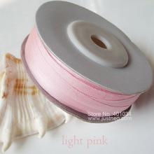 Ruban brodé en soie Pure 216 Lt.Pink   Ruban fin en taffetas Double Face 2/4/7/10/13/25/32mm,10/30/100% m