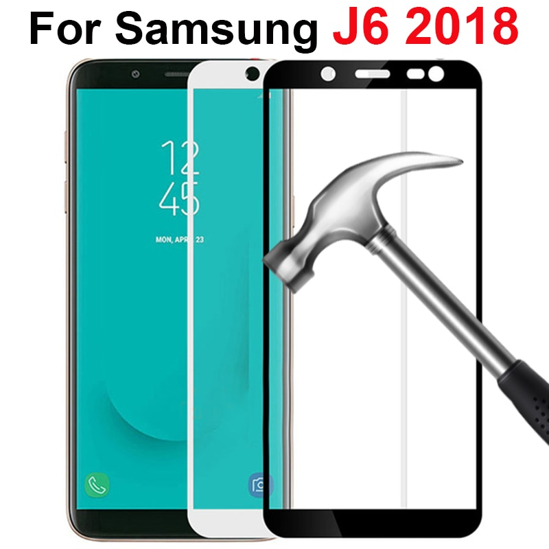 Para samsung J6, cristal templado para samsung galaxy J6 2018 plus, Protector de pantalla J 6 J600 J600F J600G, película de cristal Protector