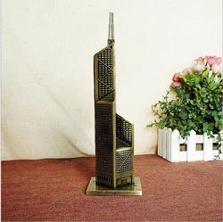 Банк Китая башня металлические изделия для украшения Ретро Бронзовая модель здания 8*26,5 см офисные настольные Миниатюрные модели домашнего...