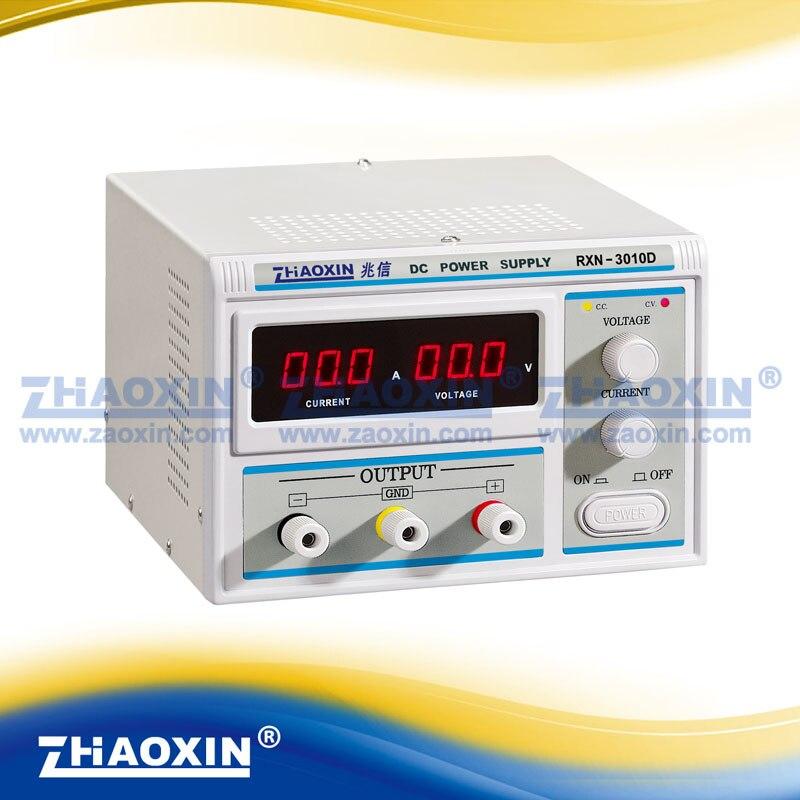 ZHAOXIN RXN-3010D متغير 0 ~ 30 فولت 0 ~ 10A مختبر الصف الخطي قابل للتعديل تيار مستمر امدادات الطاقة