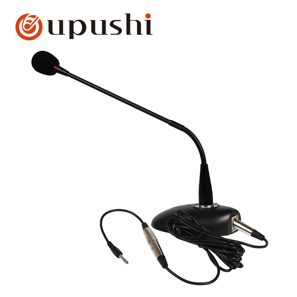 Wired condenser microphone portable desktop microphone oupushi broadcast mic for public address system